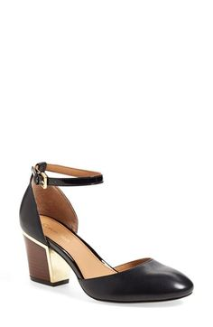 Calvin Klein 'Keller' Ankle Strap Pump (Women) available at Black Block Heel Pumps, Block Heel Shoes, Black Pumps, Black Shoes, Mid Heel Shoes, Ankle Strap Shoes, Women's Pumps, Heels, Calvin Klein Shoes