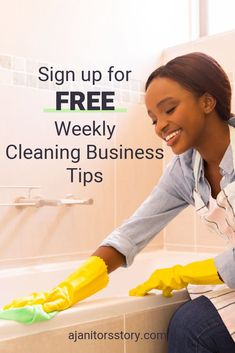 SIGN UP and get FREE WEEKLY house and office building cleaning service business tips. Start your maid and janitorial cleaning service business. Learn how to grow your cleaning business. Cleaning business forms and FREE PRINTABLES. #ajanitorsstory #cleaningbusinesstips #professionalcleaningbusiness Building Cleaning Services, Cleaning Services Company, Cleaning Companies, Professional House Cleaning, Cleaning Business, Business Articles, Business Tips, Deep Cleaning Tips, Cleaning Hacks