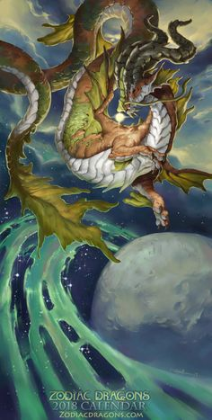 "cyrail: ""2018 The Sea-Goat Water Zodiac Dragon Capricorn by The-SixthLeafClover Featured on Cyrail: Inspiring artworks that make your day better """