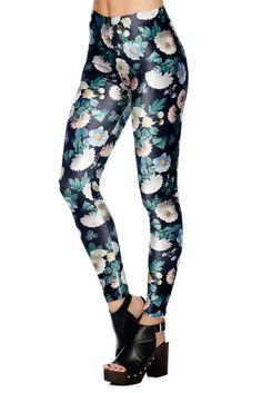 IS - L - Not Mama's Garden Velvet Leggings - CAPPED PRESALE (AU $75AUD) by BlackMilk Clothing - IS