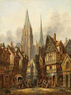 """""""We can appreciate but not really understand the medieval town. We cannot comprehend its compactness, the contiguity of all its buildings as a single uninterrupted whole."""" --Arthur Erickson"""