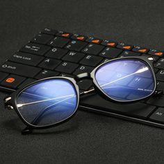 02392401a06 VCKA Brand Anti Blue Light Goggles Reading Glasses Protection Eyewear  Titanium Frame Computer Gaming Glasses For Women Men