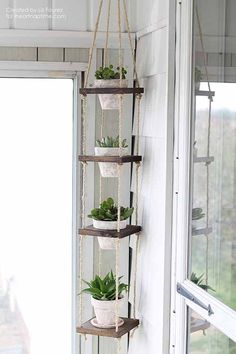How To Build A Vertical Plant Hanger