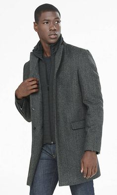 Looking for a medium or light gray coat that could pass for business casual or wear with jeans.