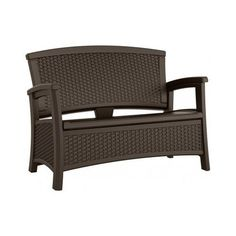 Outdoor Loveseat Bench With Storage Container Two Person Seat 23