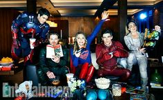 The Flash | Arrow | Supergirl | Legends of Tomorrow - Brandon Routh, Stephen Amell, Melissa Benoist, Grant Gustin and Caity Lotz