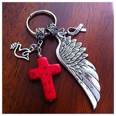 Christian Keychain Cowgirl Keychain Cross by DorysBoutique on Etsy, $9.00