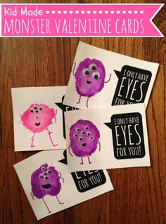 Tutus and Tea Parties: I Only Have Eyes For You | Monster Valentine with a Free Printable