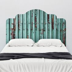 Distressed Adhesive Headboard Antique Sticker Bed Wall Decal Bedroom Art Decor  #WallsNeedLove #Country