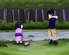 Is it possible that Sasuke and Hinata were childhood friends? Both from great clans. Sasuhina Naruto  By the river by jeccie18 on deviantART