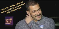 Salman Khan talk with media on his 50th birthday