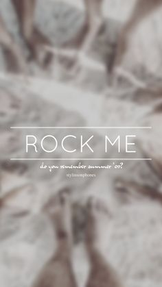 Rock Me // One Direction // ctto: @stylinsonphones (on Twitter)