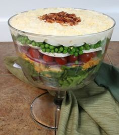 Mashed Potatoes on top on salad. Perfect idea for Thanksgiving!