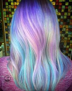 31 Colorful Hair Looks to Inspire Your Next Dye Job Colorful Pastel Hair Color Ideasummer hair inspi Pretty Hair Color, Color Your Hair, Hair Dye Colors, Hair Colour, Pastel Colors, Dye My Hair, Blue Hair, Pink Hair, Green Hair