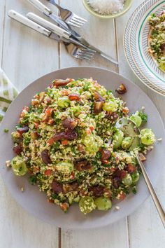 Tabouleh Salad with Dates and Grapes | Nadia Lim