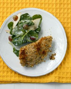 Sheet-Pan Suppers // Buttermilk Baked Chicken with Spinach Salad Recipe