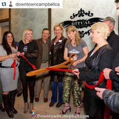 Downtown Campbell: Grand Opening ribbon cutting with the Campbell Chamber.  We're so happy to be open in Diwntown Campbell. #ritualdayspa #downtowncampbell #nowopen #newbusiness #Repost @downtowncampbellca  As of tonight Ritual Day Spa is now open for business in Downtown Campbell. They're taking appointments for pampering sessions with their massage therapists and licensed estheticians. More info at ritual-spa.com. by ritualdayspa