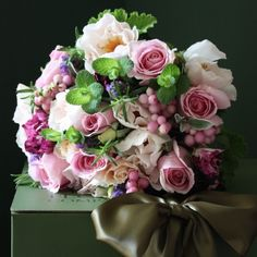Pink with Snowberries Bouquet - The Real Flower Company
