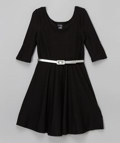 Black and white love heart dress gold