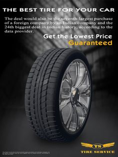 Promotional materials of tire service
