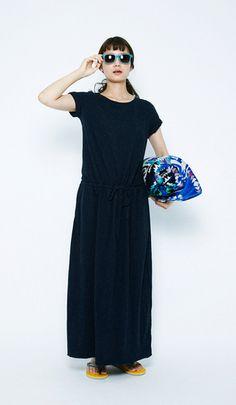 Navi coloured maxi dress by Niko and ...