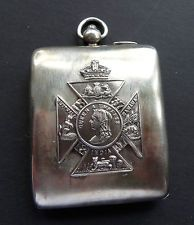 antique h/m 1912 solid SILVER Mappin & Webb compact chatelaine pendant Victorian