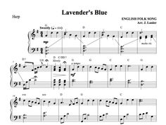 $1.50 Harp Music: Lavender's Blue for Harp (this tune was used in the latest Disney 2015 film Cinderella)