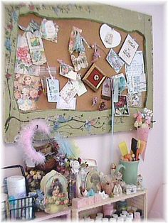 Very #vintage craft idea for a pinboard!