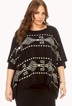Worldly Poncho Sweater | FOREVER21 PLUS - 2000129530