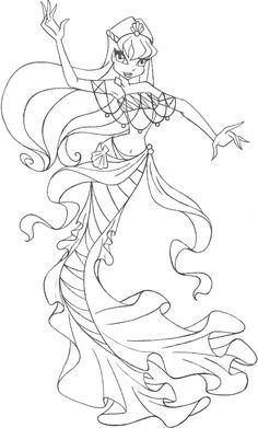 19 En Iyi Winx Mermaid Coloring Pages Goruntusu Boyama Sayfalari