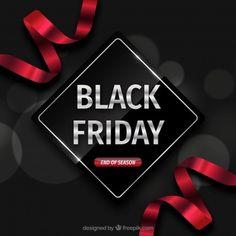 Black Friday Backgroudn com fitas vermelhas