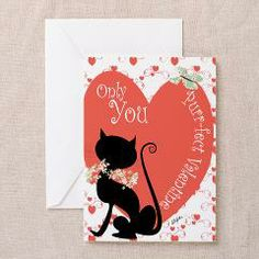 Personalised Purrfect Valentine Greeting Cards> Cards> Allykats Gifts