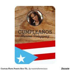 Puerto Rico Invitations, Puerto Rico party supplies  Custom Photo Puerto Rico Theme Party 3.5x5 Paper Invitation Card  Decoraciones y artículos de fiesta tema de Puerto Rico Invitaciones personalizadas con foto para fiesta temática de Puerto Rico