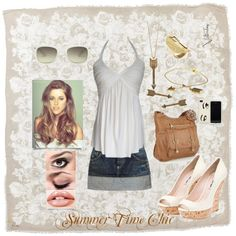 Summer Time Chic, created by zombiebabe on Polyvore