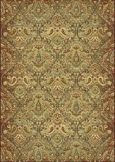 Heritage Green Area Rug