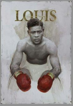 Joe Louis, boxer 2015 x oil on canvas with gold leaf by artist… Joe Louis, Boxing Posters, Boxing History, Art Of Fighting, Black Art Pictures, Boxing Champions, Sport Icon, Combat Sport, Sports Figures