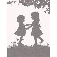 Oopsy Daisy - Sisters Dance Reversed Canvas Wall Art 18x24, Patti Rishforth
