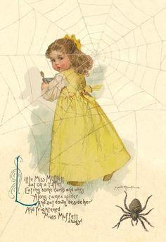 Little Miss Muffett 24x36 Giclee