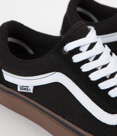 4a5ecf8b9e Vans Old Skool Pro Shoes - Black   White   Medium Gum. White Highlights ...