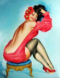 Peter Driben Vintage Pin Up Girl Illustration | Pin-Up Girls | Sugary.Sweet | #PinUp #Art #Vintage #Illustration