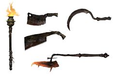 Hemwick Grave Woman's Weapons from Bloodborne