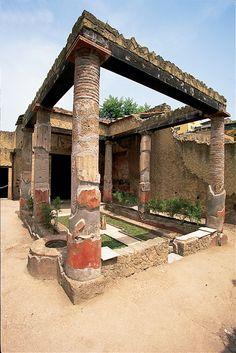 Ercolano-Casa dell' Atrio corinzio , province of naples , Campania region Italy