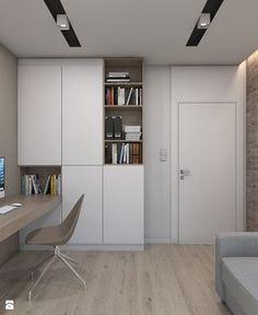 DOM JEDNORODZINNY D12/2015 TARNOWSKIE GÓRY - Małe biuro kącik do pracy w pokoju, styl nowoczesny - zdjęcie od A2 STUDIO pracownia architektury