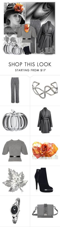 """Autumn Gray ~ Simply Chic Styling"" by pwhiteaurora ❤ liked on Polyvore featuring Andea, Simon Pearce, RED Valentino, Trifari, Hervé Léger, Sekonda, Karl Lagerfeld and Primrose"