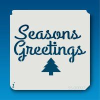 55-00007 seasons greetings stencil