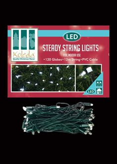 Indoor-LED-Steady-String-Lights-GreenCable