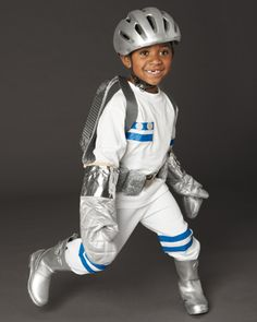 Easy to make astronaut costume.  love the oven mitts for astronaut gloves