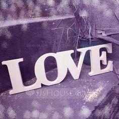 "[NZ$ 4.44] White ""LOVE"" PVC Decorative Accessories (131071710)"