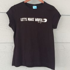 """NWOT Roxy Let's Make Waves Tee NEVER WORN. 100% Cotton. Front white sparkle logo reads """"let's make waves"""". Back white sparkle logo, pictured last. Roxy Tops Tees - Short Sleeve"""