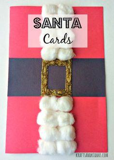 Homemade #Santa Card for kids to make for Christmas #christmascraft